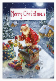 Borduurpakket Postcard - Christmas - Luca-S    ls-sp093