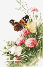 Borduurpakket Butterflies in the Field - Leti Stitch    leti-0938