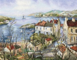 Borduurpakket Calm Town by the Sea - RTO    rto-m00554