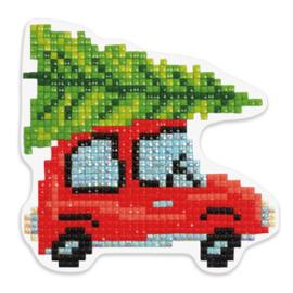 Diamond Painting Christmastree on Car - Freyja Crystal   fc-alvm-027