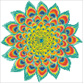 Diamond Dotz Peacock Mandala - Needleart World    nw-dd05-060
