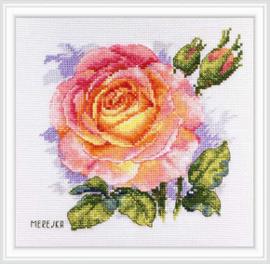 Borduurpakket Rose - Merejka    mer-k138