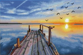 Diamond Dotz Sunset Jetty - Needleart World    nw-dd12-051
