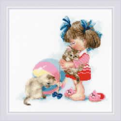 Borduurpakket Kathy's Kittens - RIOLIS    ri-1833