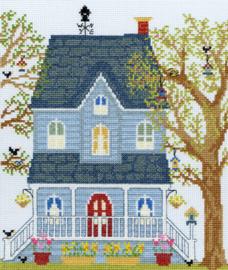 Borduurpakket New England Homes - Spring - Bothy Threads    bt-xss01