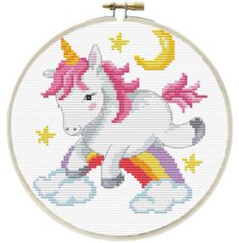 Voorbedrukt borduurpakket Unicorn Frolic - Needleart World    nw-nc240-056