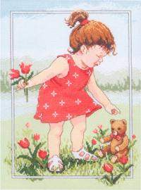 Borduurpakket Tulips for Teddy - Janlynn    jan-029-0059