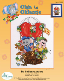 Borduurpakket De Ballonvaarders - The Stitch Company    tsck-1103e