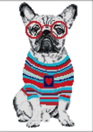 Cross Stitch / French bulldog