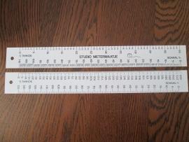 Studio metermaatje 32cm wit