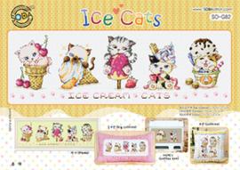 Borduurpakket Ice Cats - The Stitch Company    tsck-sog082