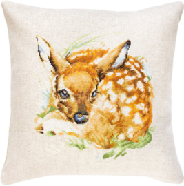 Borduurpakket Pillow Deer - Luca-S    ls-pb180