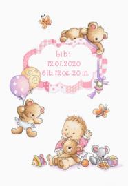 Borduurpakket It's a girl! - Leti Stitch    leti-0969