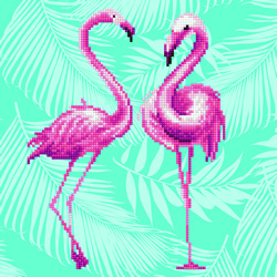 Diamond Art Flamingo Duo - Leisure Arts    la-da02-49353