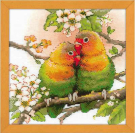 Borduurpakket Lovebirds - RIOLIS    ri-1780