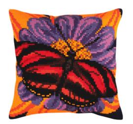 Kussen borduurpakket Butterfly - Collection d'Art    cda-5306