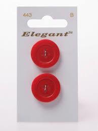 Knopen Elegant - Rood / 443
