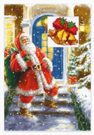 Borduurpakket Postcard - Christmas - Luca-S    ls-sp097