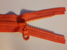 YKK Deelbare bloktand rits.  Oranje kleurnr. 849 / 25 cm