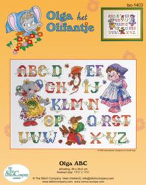 Borduurpakket Olga ABC - The Stitch Company    tsck-1403e