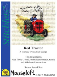 Borduurpakket Red Tractor - Mouseloft    ml-004-n02