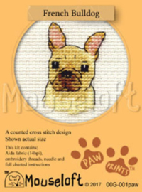 Borduurpakket French Bulldog - Mouseloft    ml-00g-001