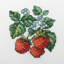 Borduurpakket Wild strawberries - RTO    rto-h251