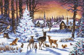 Borduurpakket Christmas Wood - Leti Stitch    leti-0947