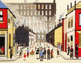 Borduurpakket Lowry - Street Scene - Bothy Threads    bt-xlc09