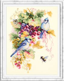 Borduurpakket Blue Jay and Grapes - Chudo Igla    ci-130-022