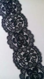 Breed schitterend zwart Kant / 9,5 cm breed