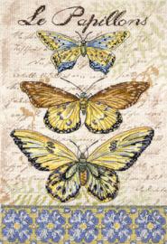 Borduurpakket Vintage Wings - Le Papillons - Leti Stitch    leti-0975