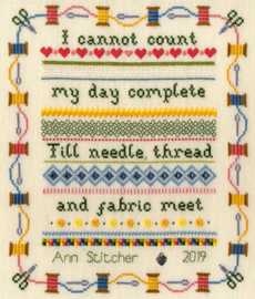 Borduurpakket Stitching Sampler - Bothy Threads    bt-xbd06