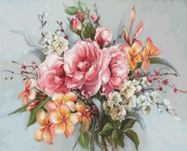 Borduurpakket Flower Bouquet - Luca-S    ls-ba2364