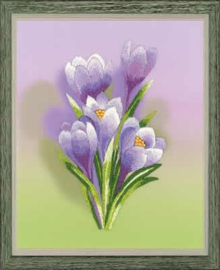 Borduurpakket Crocuses - Satin Stitch - RIOLIS    ri-pt0065