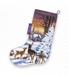 Borduurpakket Christmas Wood Stocking - Leti Stitch    leti-0948
