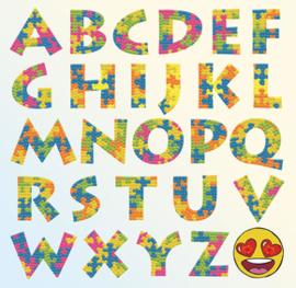 Diamond Dotz Puzzle Alphabet - Needleart World    nw-dbx-030
