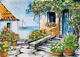 Voorbedrukt borduurpakket Seaside Paradise - Needleart World    nw-nc650-039