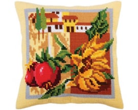 Kussen borduurpakket Tuscany - Collection d'Art    cda-5294