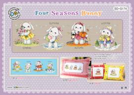Borduurpatroon Four Seasons Bunny - Soda Stitch    so-g174