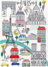Borduurpakket Cities - Love Paris - Bothy Threads    bt-xls05