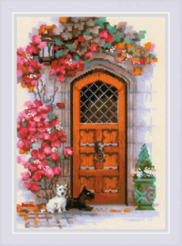 Borduurpakket Scottish Door - RIOLIS    ri-1832