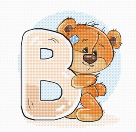 Borduurpakket Letter B - Luca-S    ls-b1203