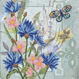 Voorbedrukt borduurpakket Cornflower Field - Needleart World    nw-nc650-030