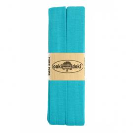 Oaki Doki Tricot de Luxe  / Jersey Biaisband / Blauw 472
