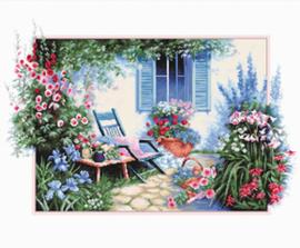 Borduurpakket Flower Garden - Luca-S    ls-b2342