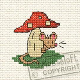 Borduurpakket Tiny Toadstool in the Woods - Mouseloft    ml-00f-007