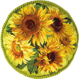 Borduurpakket Sunflowers Cushion - RIOLIS    ri-1530