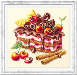 Borduurpakket Cherry Cake - Chudo Igla    ci-120-072