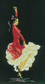 Borduurpakket Flamenco Dancer - RTO    rto-c098